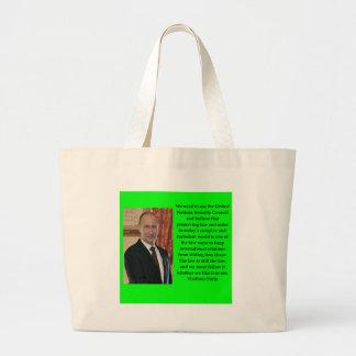 putin quote large tote bag