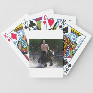 Putin rides a bear! poker deck