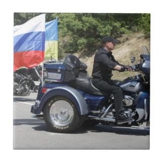 Putin rides a Trike! Ceramic Tile