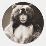 Putin the Bear Round Sticker