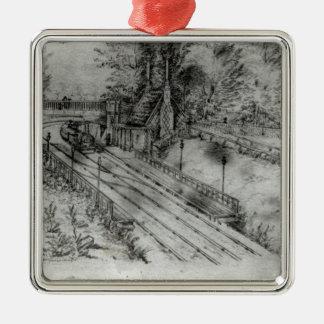 Putney Railway Station Metal Ornament