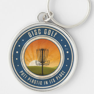 Putt Plastic In Its Place Key Ring