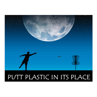 Putt Plastic In Its Place Postcard