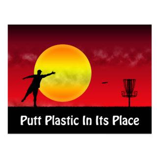 Putt Plastic In Its Place Postcard