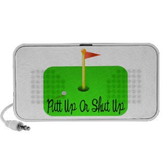 Putt Up Or Shut Up Golf Speakers