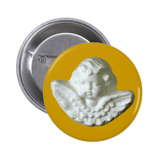 Putte putto angel fishing rod pinback buttons