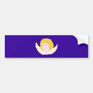Putte putto angel fishing rod bumper sticker