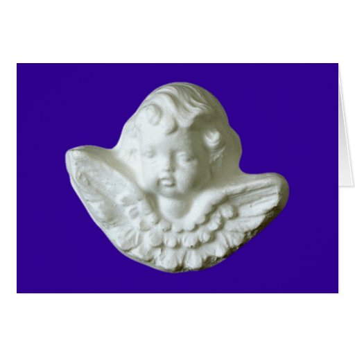 Putte putto angel fishing rod card