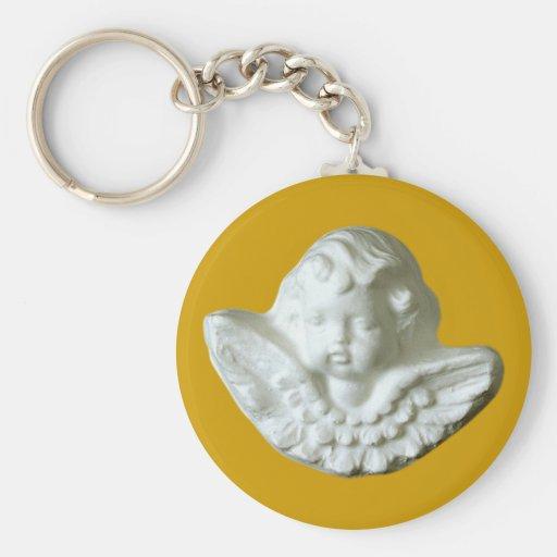 Putte putto angel fishing rod keychains