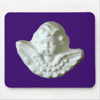 Putte putto angel fishing rod mouse pad