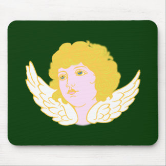 Putte putto angel fishing rod mousepad