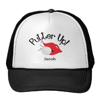Putter Up Golfing - Kiss Cap