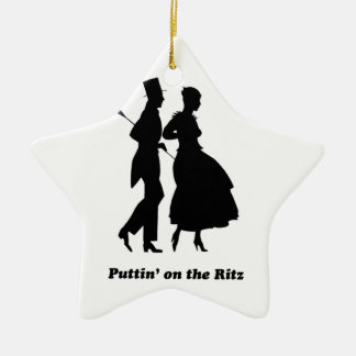 Puttin' on the Ritz Ceramic Ornament