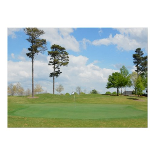 Putting Green Poster