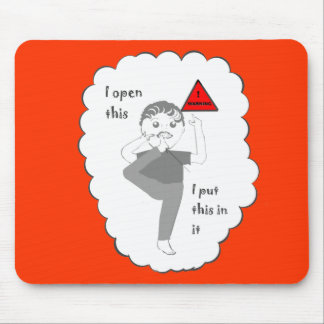 Putting your foot in mouth joke products mouse pad