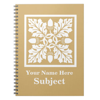 Putty Acorn and Leaf Tile Design Notebook