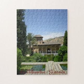 puzle landscape Alhambra Granada Spain Jigsaw Puzzle