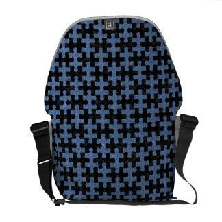PUZZLE1 BLACK MARBLE & BLUE DENIM COMMUTER BAGS