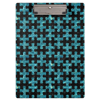 PUZZLE1 BLACK MARBLE & BLUE-GREEN WATER CLIPBOARD