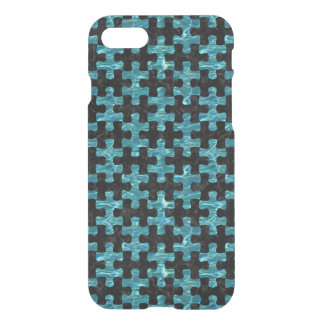PUZZLE1 BLACK MARBLE & BLUE-GREEN WATER iPhone 8/7 CASE