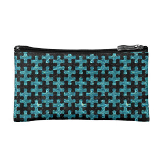 PUZZLE1 BLACK MARBLE & BLUE-GREEN WATER MAKEUP BAG