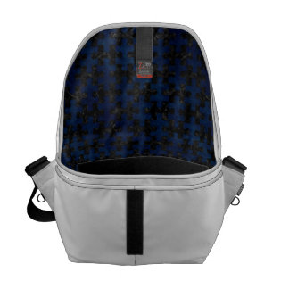 PUZZLE1 BLACK MARBLE & BLUE GRUNGE COURIER BAGS