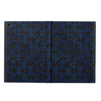 PUZZLE1 BLACK MARBLE & BLUE GRUNGE COVER FOR iPad AIR