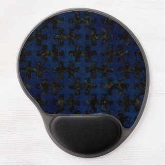 PUZZLE1 BLACK MARBLE & BLUE GRUNGE GEL MOUSE PAD