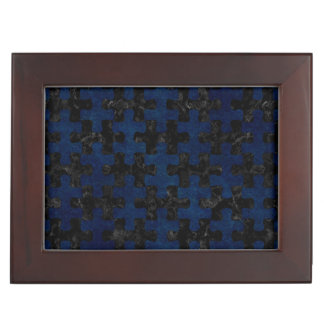 PUZZLE1 BLACK MARBLE & BLUE GRUNGE MEMORY BOX