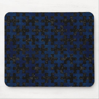 PUZZLE1 BLACK MARBLE & BLUE GRUNGE MOUSE PAD