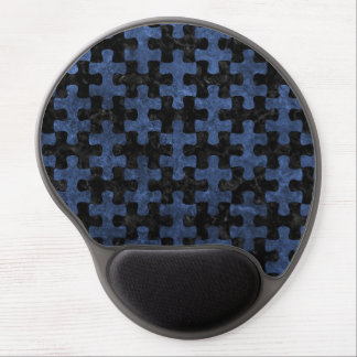 PUZZLE1 BLACK MARBLE & BLUE STONE GEL MOUSE PAD