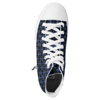 PUZZLE1 BLACK MARBLE & BLUE STONE HIGH TOPS