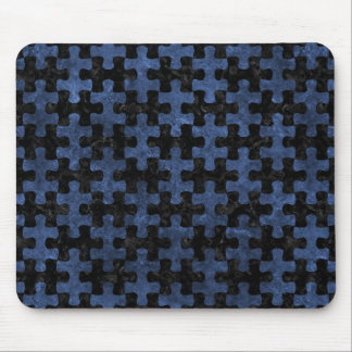 PUZZLE1 BLACK MARBLE & BLUE STONE MOUSE PAD