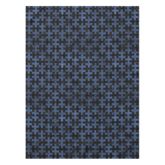 PUZZLE1 BLACK MARBLE & BLUE STONE TABLECLOTH