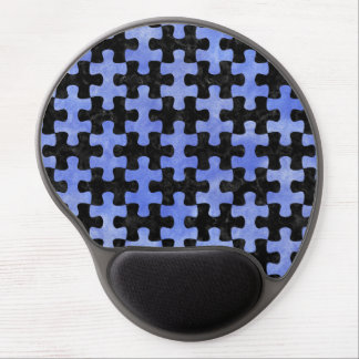 PUZZLE1 BLACK MARBLE & BLUE WATERCOLOR GEL MOUSE PAD