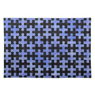 PUZZLE1 BLACK MARBLE & BLUE WATERCOLOR PLACE MATS