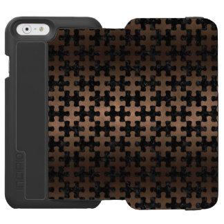 PUZZLE1 BLACK MARBLE & BRONZE METAL INCIPIO WATSON™ iPhone 6 WALLET CASE