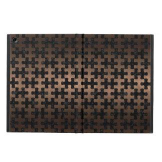 PUZZLE1 BLACK MARBLE & BRONZE METAL iPad AIR COVER