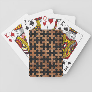 PUZZLE1 BLACK MARBLE & BROWN STONE PLAYING CARDS