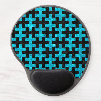 PUZZLE1 BLACK MARBLE & TURQUOISE MARBLE GEL MOUSE PAD