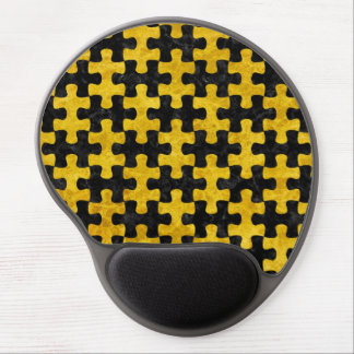 PUZZLE1 BLACK MARBLE & YELLOW MARBLE GEL MOUSE PAD