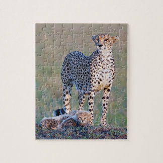 Puzzle 10x8 110 pieces - Cheetah and cubs