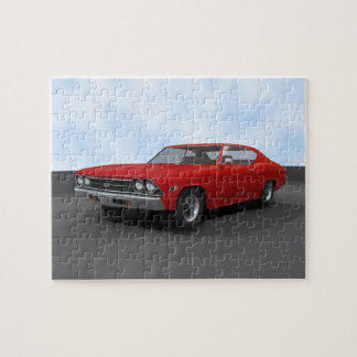 Puzzle: 1969 Chevelle SS: Red Finish Jigsaw Puzzle