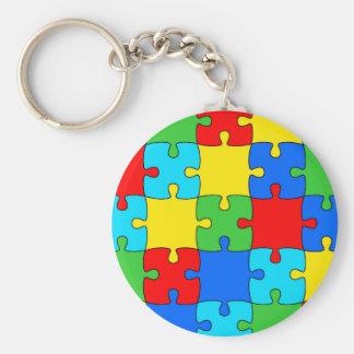 "Puzzle 2.25"" Basic Button Keychain"