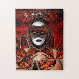 Puzzle Butterfly Queen Red Fantasy Girl Jigsaw Puzzle