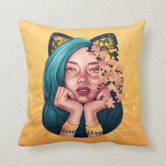 Puzzle Cat Girl Pillow