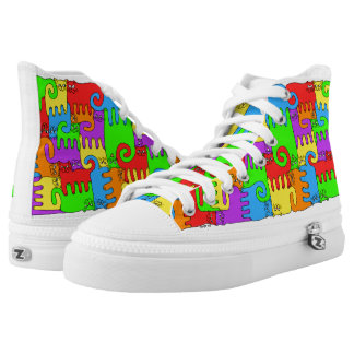 """Puzzle Cats """"Rainbow"""" Printed Shoes"""