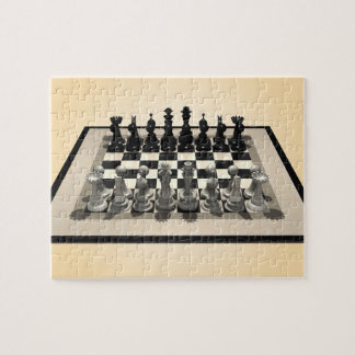 Puzzle: Chessboard and Chess Pieces Puzzle