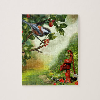 "Puzzle, ""Chickadee in a Sherry Tree"" Puzzles"