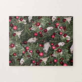 Puzzle: Christmas Mouse Collage Jigsaw Puzzle